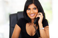 Smart businesswoman telephone indian talking on in office Royalty Free Stock Photos