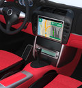 Smart car navigation interface in original design Royalty Free Stock Photo