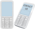 Smart cell phone communication Contact screen Stock Images