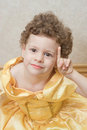 Smart child princess Royalty Free Stock Image
