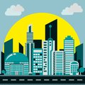 Smart city background smooth color