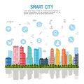 Smart city design Royalty Free Stock Photo