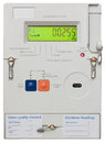 Smart electricity meter residential isolated on white with clipping path Royalty Free Stock Photos