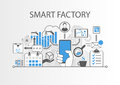 Smart factory or industrial internet of things background illustration