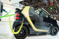 Smart fortwo electric drive, Motor Show Geneve 2015. Royalty Free Stock Photo