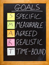 SMART Goals principle Royalty Free Stock Photos