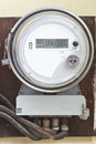 Smart grid residential digital power meter Royalty Free Stock Photo