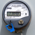 Smart grid residential digital power supply meter Stock Images