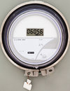 Smart grid residential digital power supply meter Royalty Free Stock Photo