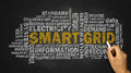 Smart grid word cloud Royalty Free Stock Photo