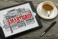 Smart grid word cloud Royalty Free Stock Photo
