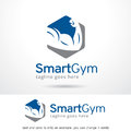 Smart Gym Logo Template Design Vector