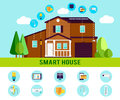 Smart House Flat Infographic