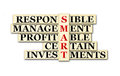 Smart investment acronym concept of and other releated words Royalty Free Stock Image