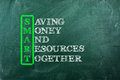 Smart money acronym of and other relevant words on green chalkboard Royalty Free Stock Photo