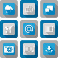 Smart phone application icon set design Royalty Free Stock Image
