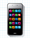 Smart phone with application vector Stock Images