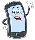 Smart phone cartoon Stock Photography