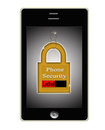 Smart Phone Cell Security Lock Concept Logo Royalty Free Stock Photo