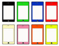 Smart Phone Colored Set Stock Image
