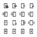 Smart phone communication icon set, vector eps10 Royalty Free Stock Photo