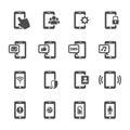 Smart phone communication icon set, vector eps10 Royalty Free Stock Photo