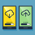Smart Phone Downloading And Uploading Icon Royalty Free Stock Photo