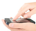 Smart phone in the hands Royalty Free Stock Photo