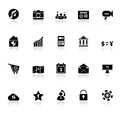 Smart phone icons with reflect on white background Stock Photo