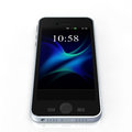 Smart phone the image of the in white background Stock Image
