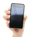 Smart phone / mobile phone hand Stock Photography