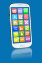 Smart phone or mobile with programs application apps app for internet Stock Photos