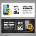 Smart phone repair banner Royalty Free Stock Photo