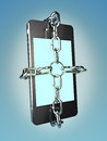 Smart phone security concept background Royalty Free Stock Photography