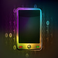 Smart phone technology in binary internet space vector illustration Stock Photos