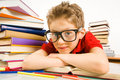 Smart pupil Stock Image
