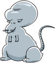 Smart rat a genetically modified cartoon with a huge brain Stock Images