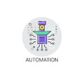 stock image of  Smart Robot Machinery Industrial Automation Industry Production Icon