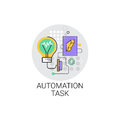 Smart Robot Machinery Industrial Automation Task Industry Production Icon