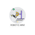 stock image of  Smart Robotic Arm Machinery Industrial Automation Industry Production Icon