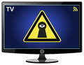 Smart TV spying on You Royalty Free Stock Photo