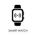 Smart watch icon symbol flat style vector illustration