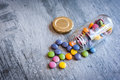 Smarties in a jar Royalty Free Stock Photo