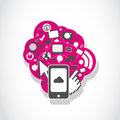 Smartphone application icons concept abstract background Royalty Free Stock Photography