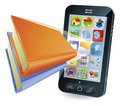 Smartphone book concept Royalty Free Stock Photography