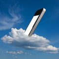 Smartphone in the cloud Royalty Free Stock Photography