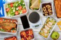 Lean fish and food scale Royalty Free Stock Photo