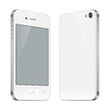 Smartphone illustration white with a touchscreen the front and back sides there are structural differences from the original Stock Image