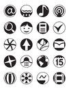 Smartphone menu icons set Royalty Free Stock Photography