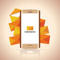 Smartphone message vector illustration of a with heaps of mails Royalty Free Stock Images